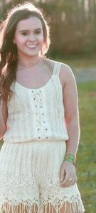 Miss Me All Crochet Romper